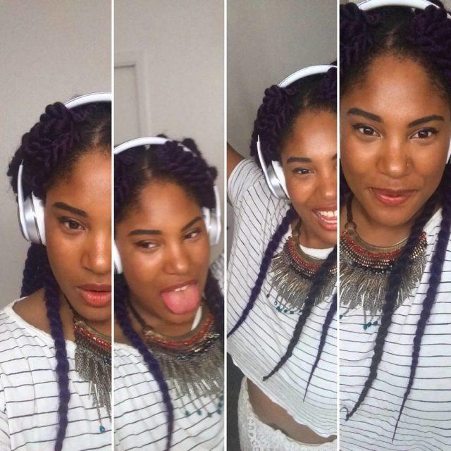Mamas cheeks Wilson nose Grateful smile Purple Hair Selfies 29